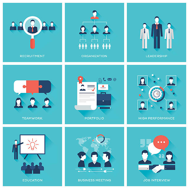 Human resource management – Vektorgrafik