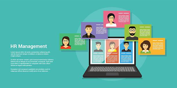 human resource management vector art illustration