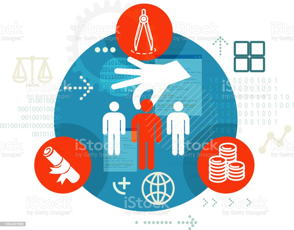 Human Resource Recruitment Selection Process Illustration