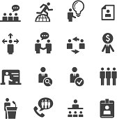 Human resource, strategy and business icons series