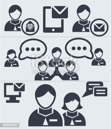 Human resource,communicat ion icons,vector
