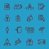 Human resources black line icon