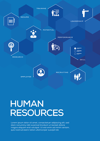 Human Resources. Brochure Template Layout, Cover Design