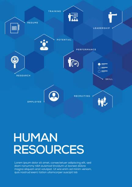 human resources. broschüre vorlage layout, cover-design - zeitschrift grafiken stock-grafiken, -clipart, -cartoons und -symbole