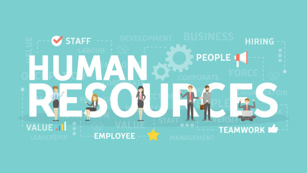 illustrazioni stock, clip art, cartoni animati e icone di tendenza di human resources concept illustration. - reparto assunzioni
