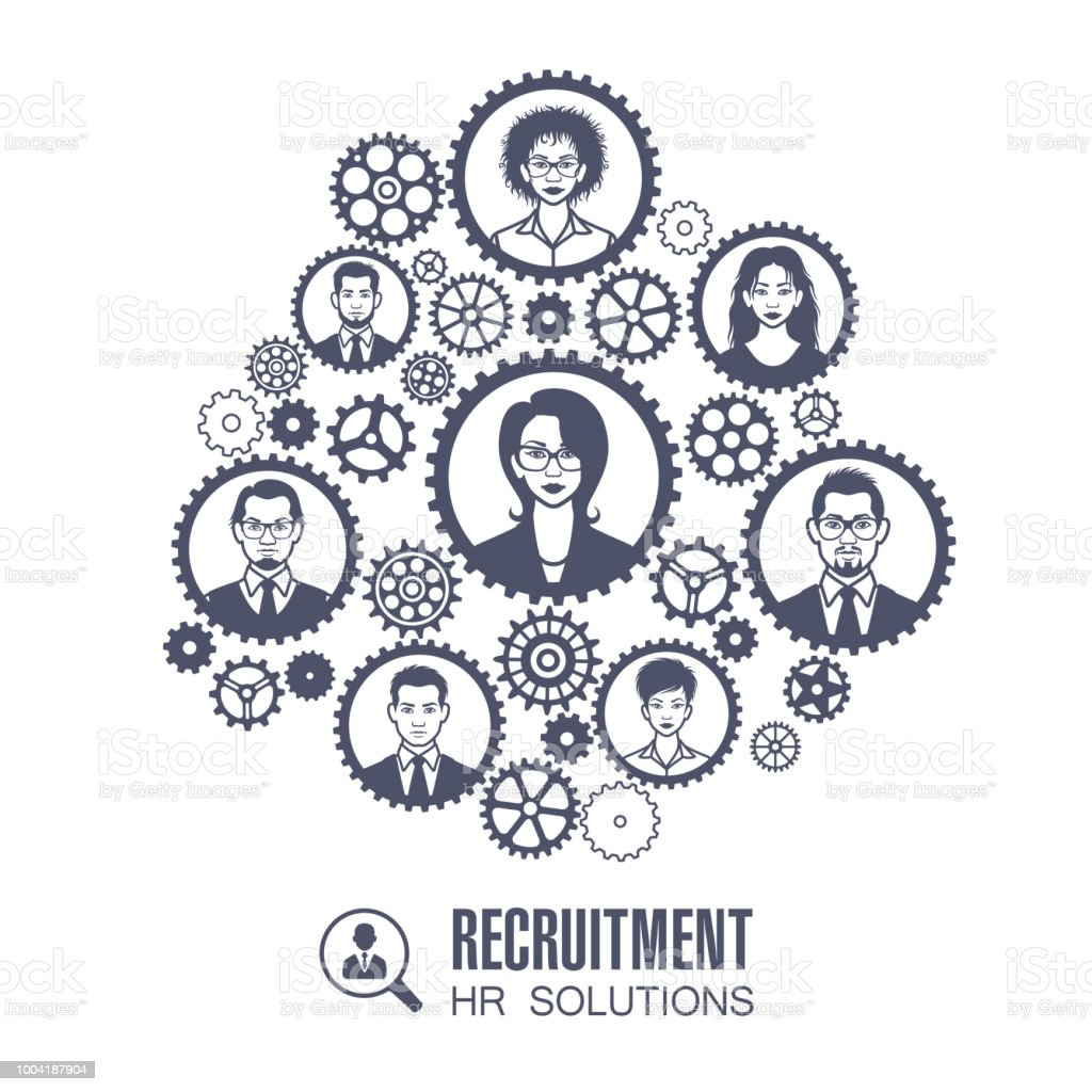 Human Resources Concept vector art illustration