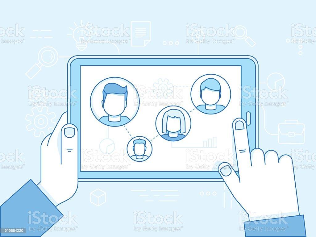 Human resources concept vector art illustration