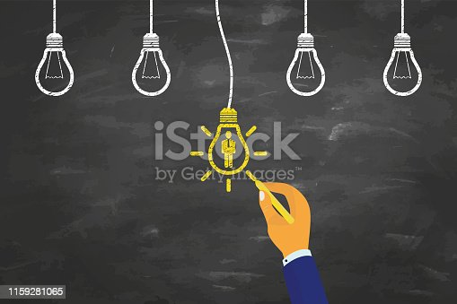 Human Resources Concepts on Chalkboard Background