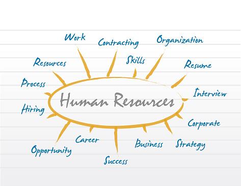 HR human resources diagram model.