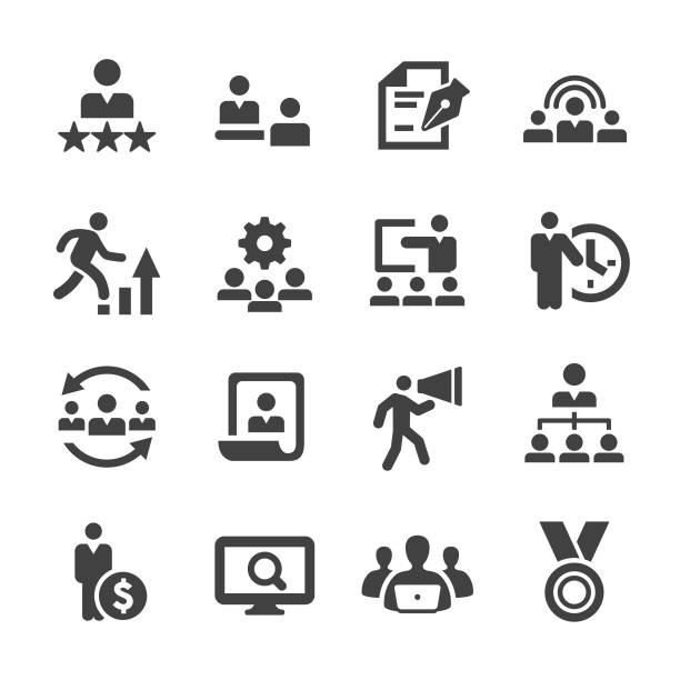 ikony zasobów ludzkich - seria acme - umiejętność stock illustrations