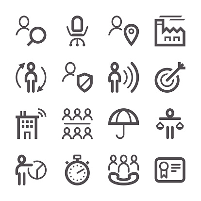 Human Resources Icons set | Stroke Series