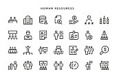Human Resources Icons - Vector EPS 10 File, Pixel Perfect 28 Icons.