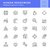 Human Resources Line Icon Series