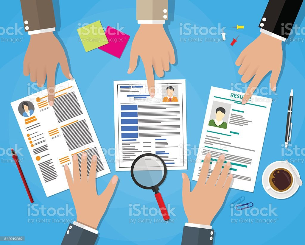 HR management-Konzept – Vektorgrafik