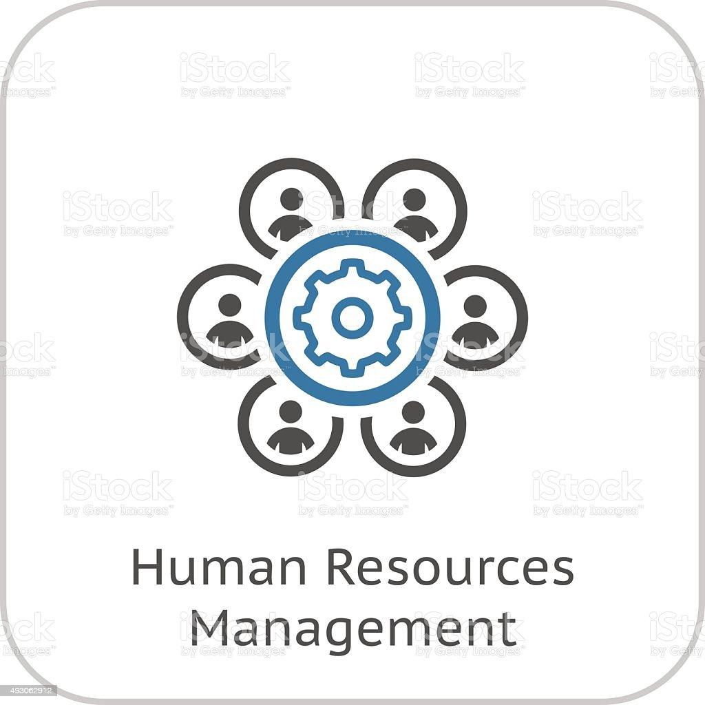 Human Resources Management Icon. Business Concept. Flat Design. vector art illustration