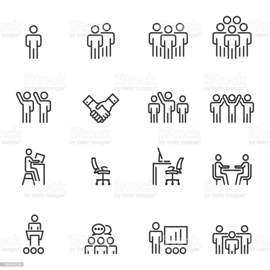 Human Resources Management Icons Line Vector illustration royalty-free human resources management icons line vector illustration stock illustration - download image now