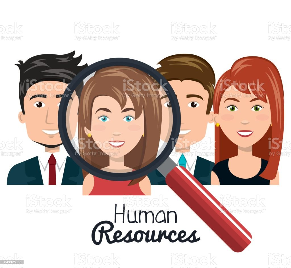 human resources people choose flat design
