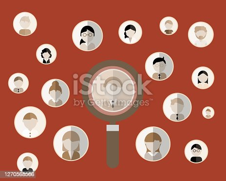 istock Human Resources - recruitment sign vector 1270568566