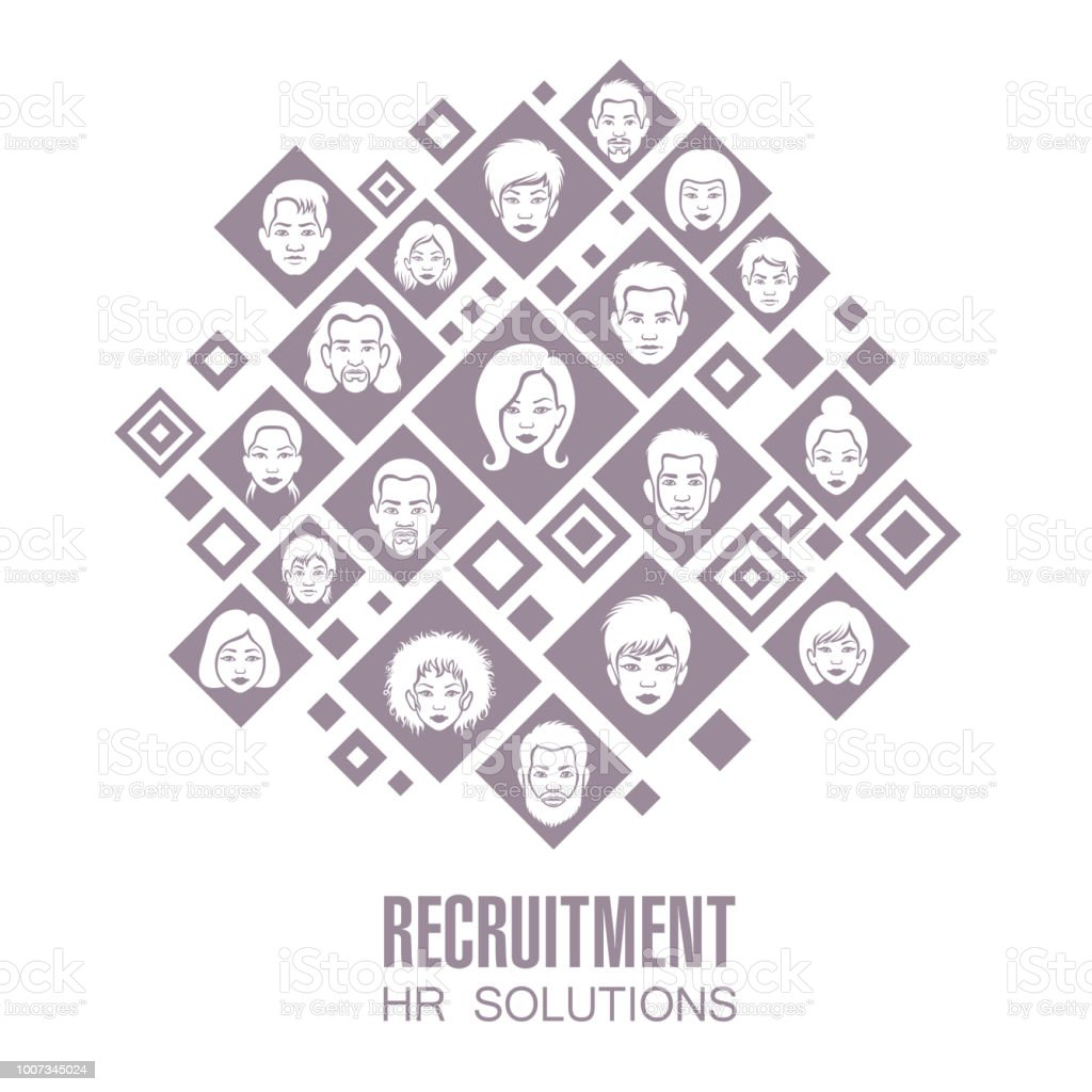 Human Resources Solution Concepts vector art illustration