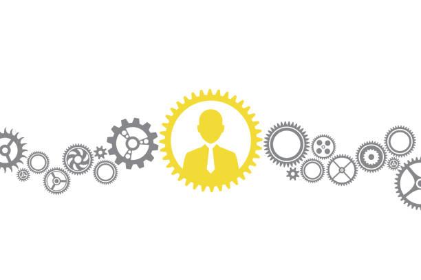human resources-lösungskonzepte - leitende position stock-grafiken, -clipart, -cartoons und -symbole