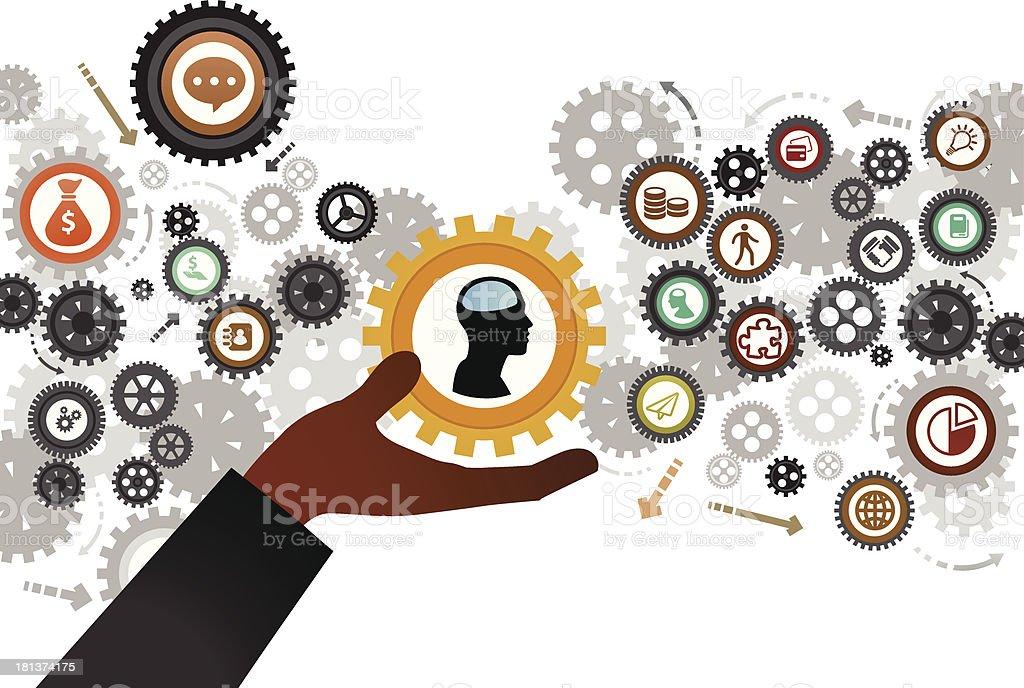 Human Resources vector art illustration
