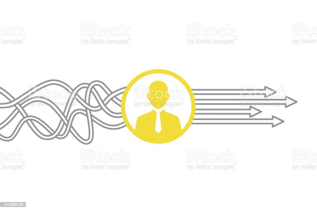 Conceptos de recursos humanos - ilustración de arte vectorial