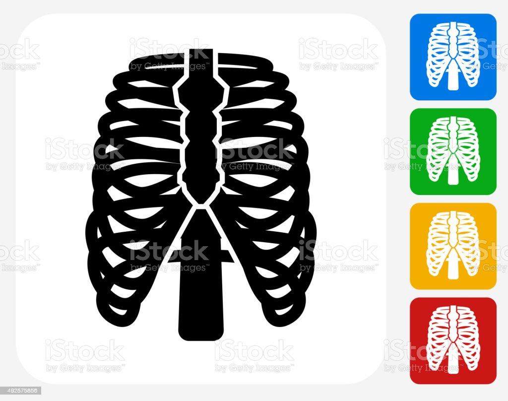 Costillas Humanos Iconos Planos De Diseño Gráfico - Arte vectorial ...
