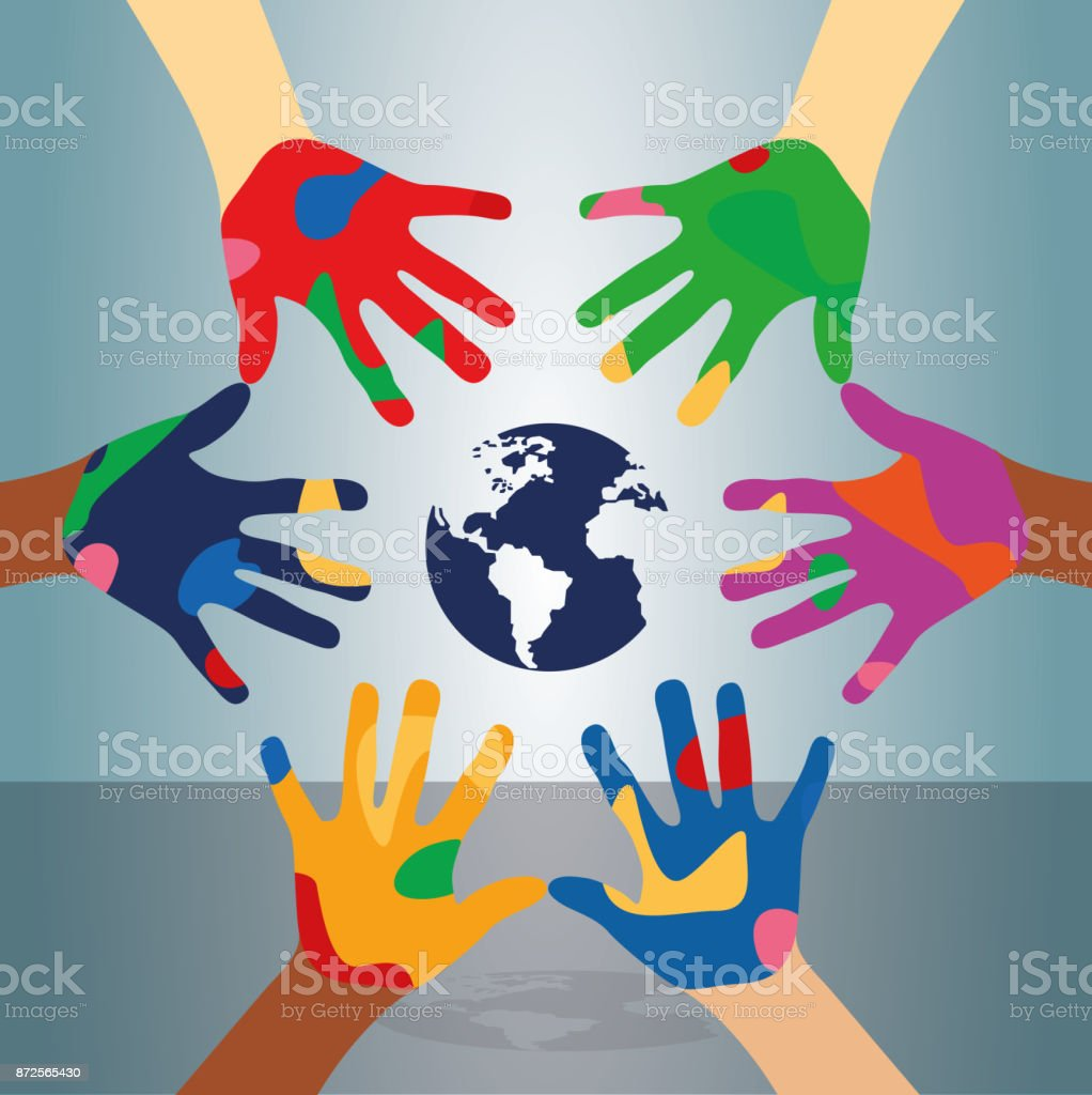 Human rights and every color of people.Vector illustration vector art illustration
