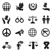 Peace, Freedom, Human Rights, Justice