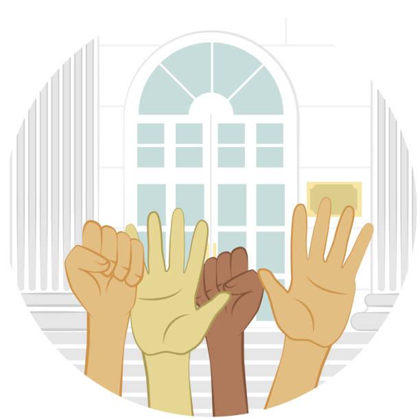 Human Rights vector art illustration