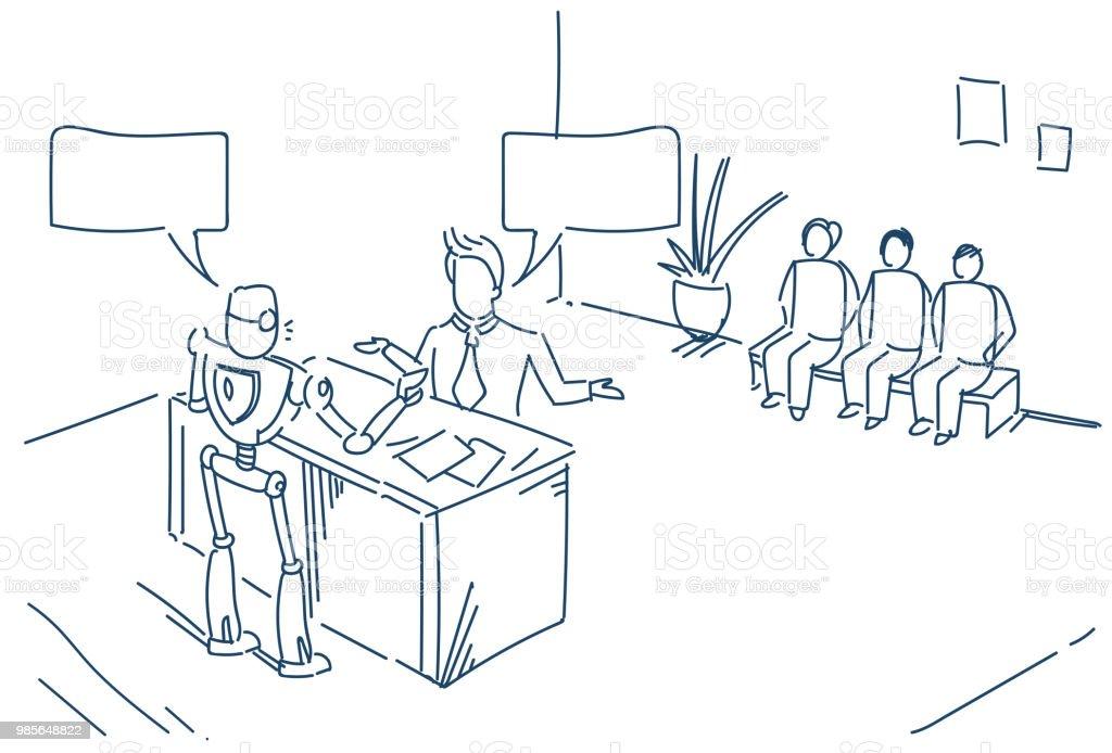 human robot talking chat box bubble communication concept, artificial...