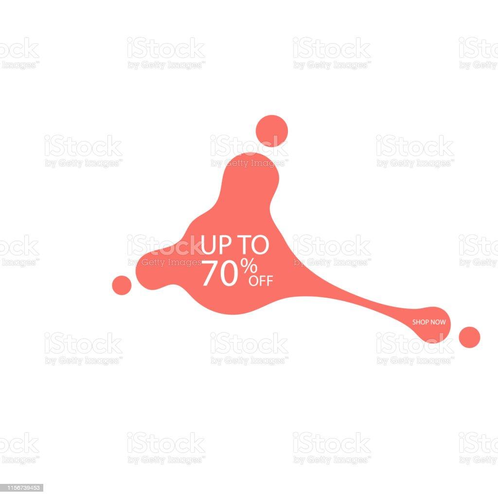 Human shaped fluid. Sale fluid shape banner design. 70 off. Special...