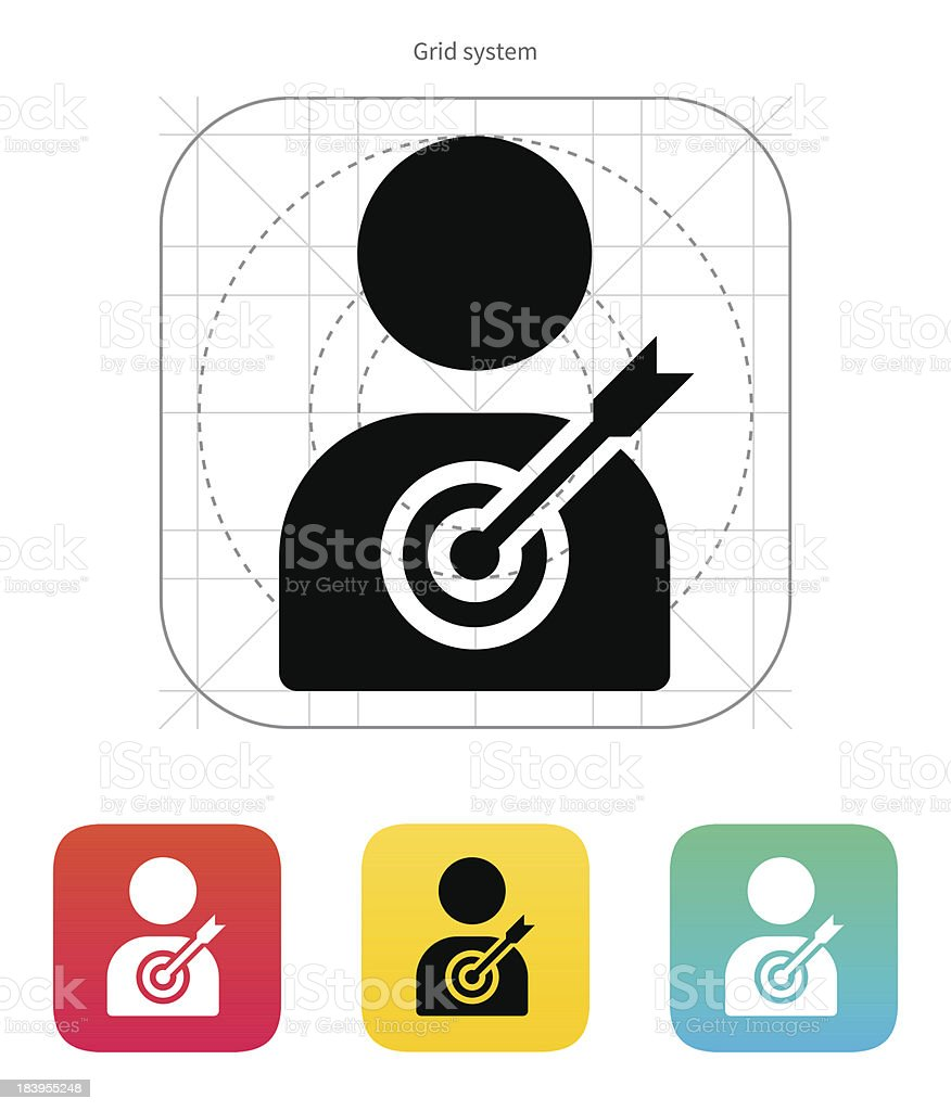 Human silhouette target icon. royalty-free stock vector art