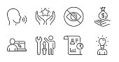 istock Human sing, Not looking and Ranking icons set. Online education, Report and Education signs. Vector 1286500757