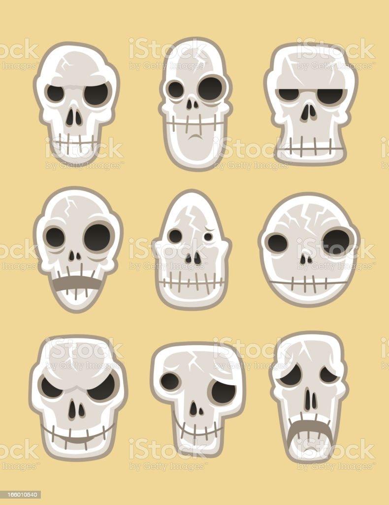 Human skeleton dead Skull horror silhouette symbol royalty-free stock vector art