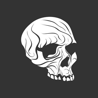 Human skull ink