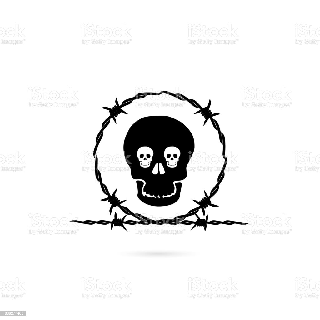 royalty free drawing of skull flame tattoo clip art