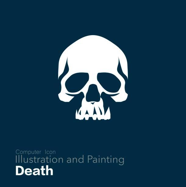 Human Skull, vector art illustration
