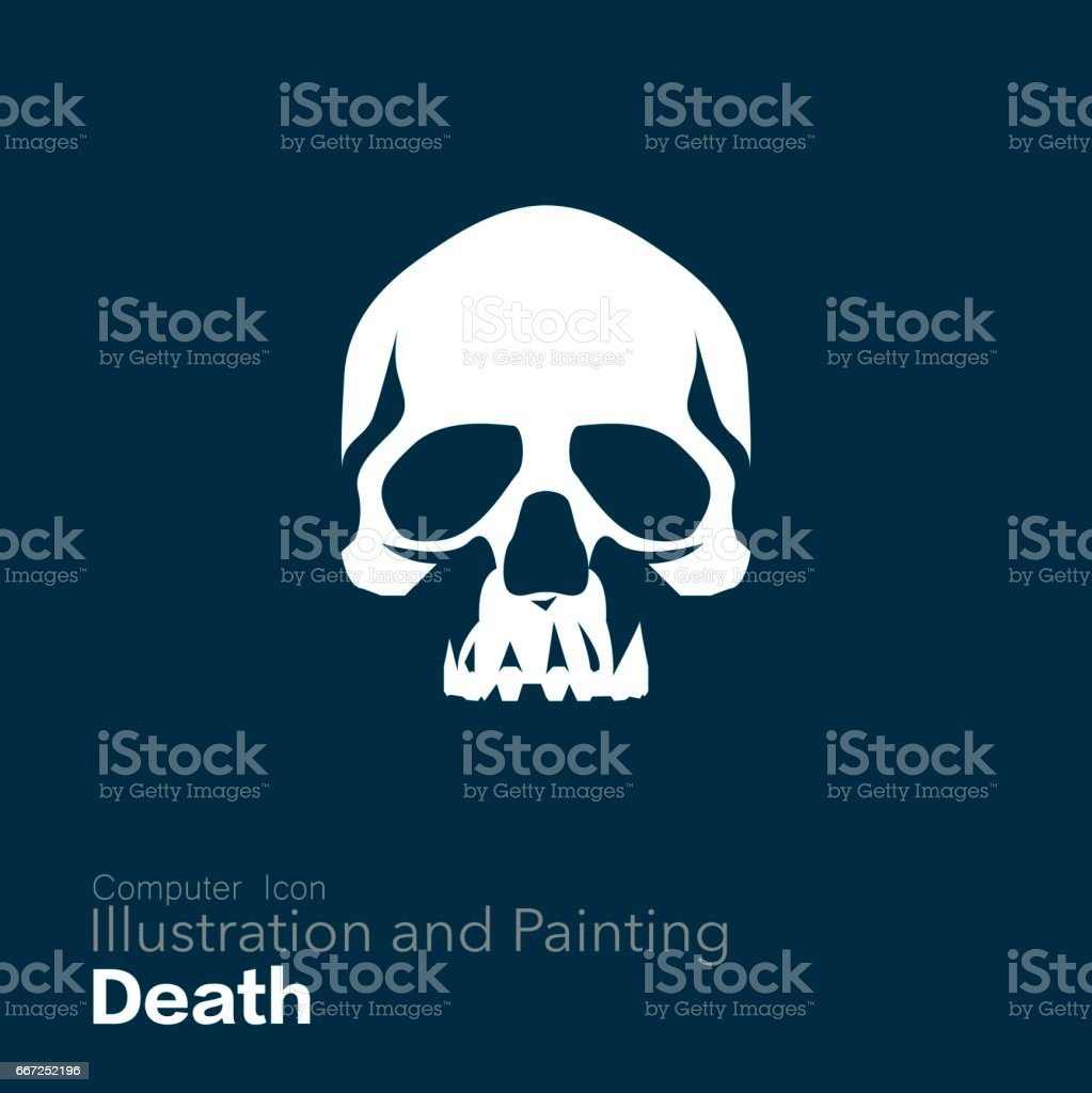 Human Skull, vector art illustration