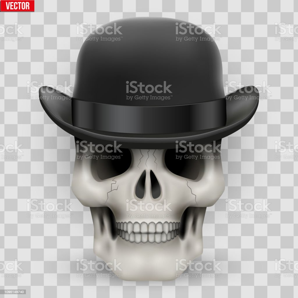 e7bbcf8d Human Skull With Hat Bowler Stock Vector Art & More Images of Art ...