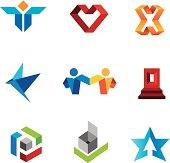 Human social creativity genius in world community logo template