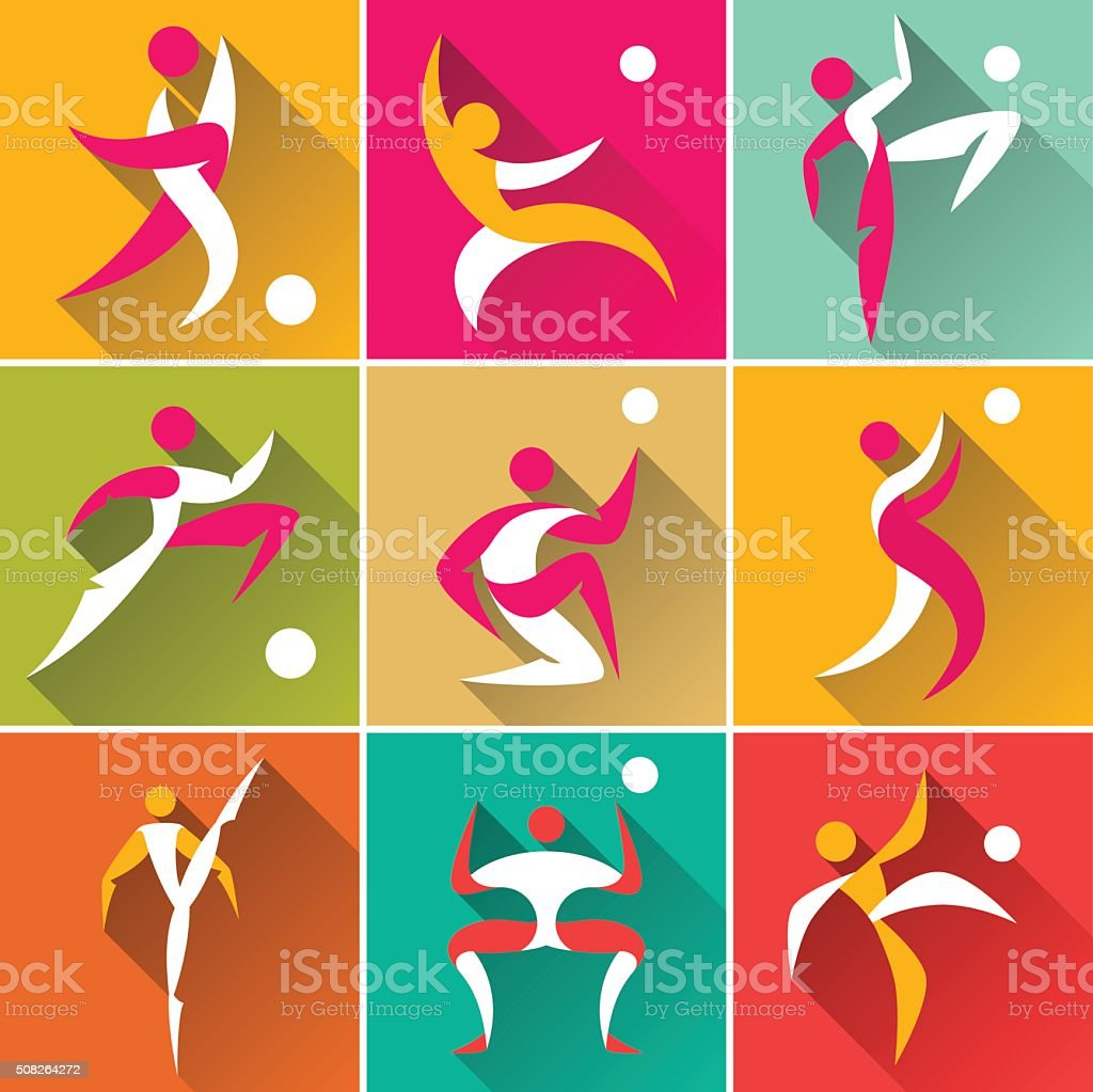Der sport-icons Satz – Vektorgrafik