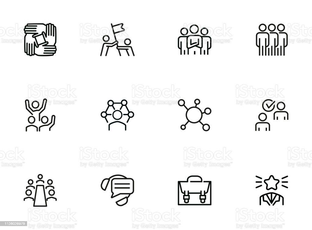 Ilustración De Iconos De Estructura Humana Y Más Vectores