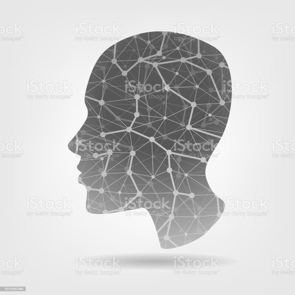 Human stylized head - illustrazione arte vettoriale
