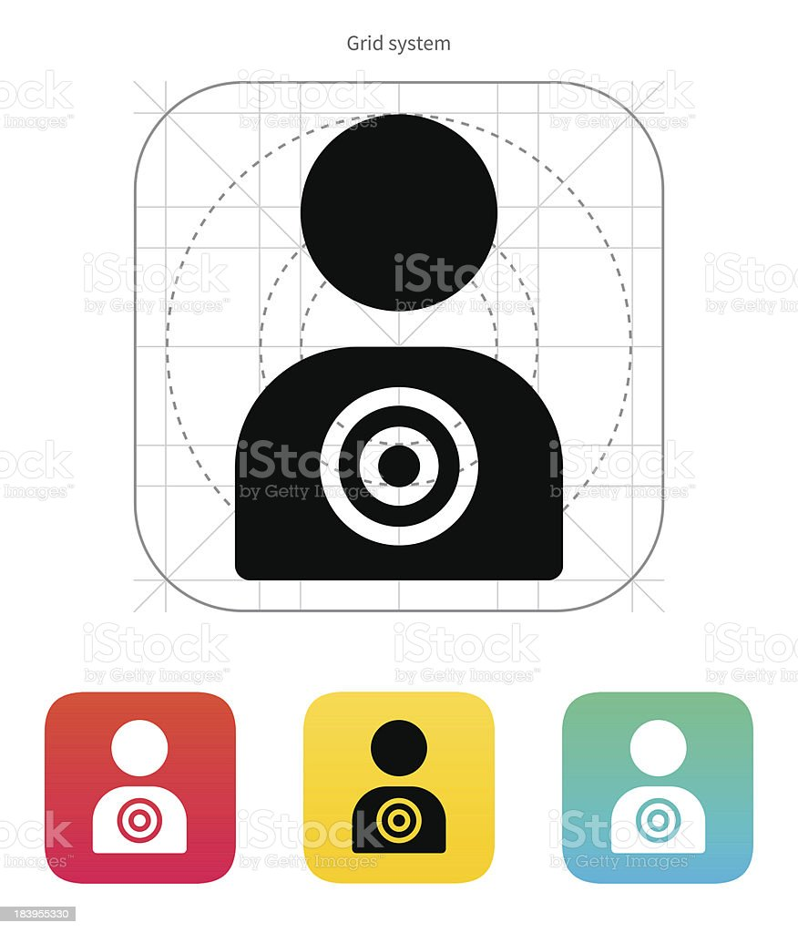 Human target icon. royalty-free stock vector art