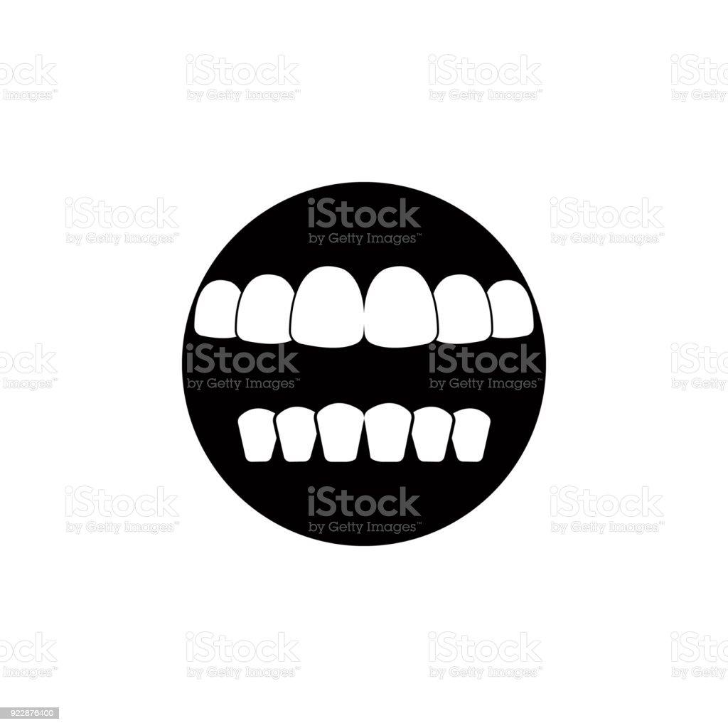 Menschliche Zähne Symbol Detaillierte Symbol Der Teile Des ...