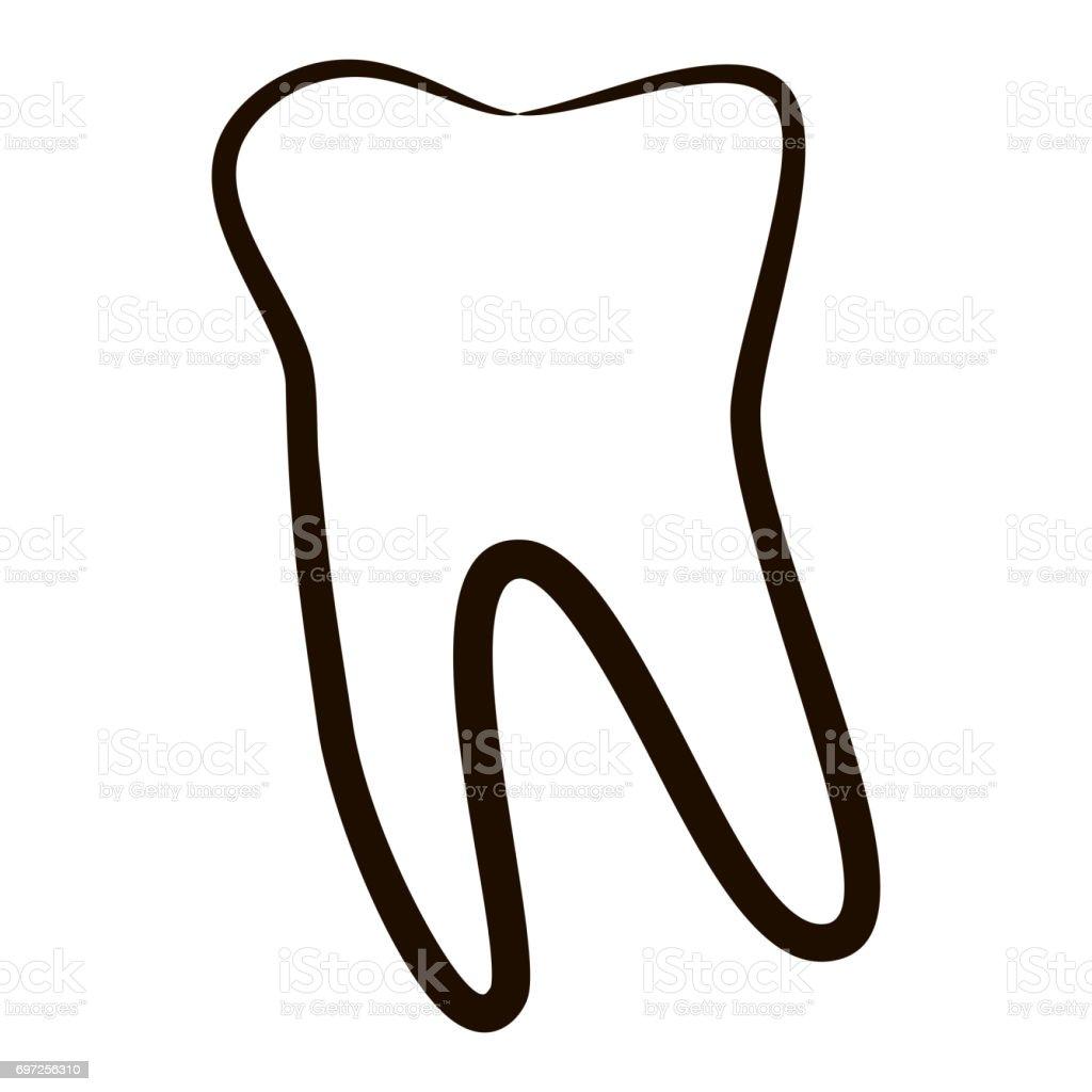 Menschliche Zähne Icons Set Isolierten Auf Weißen Hintergrund Für ...