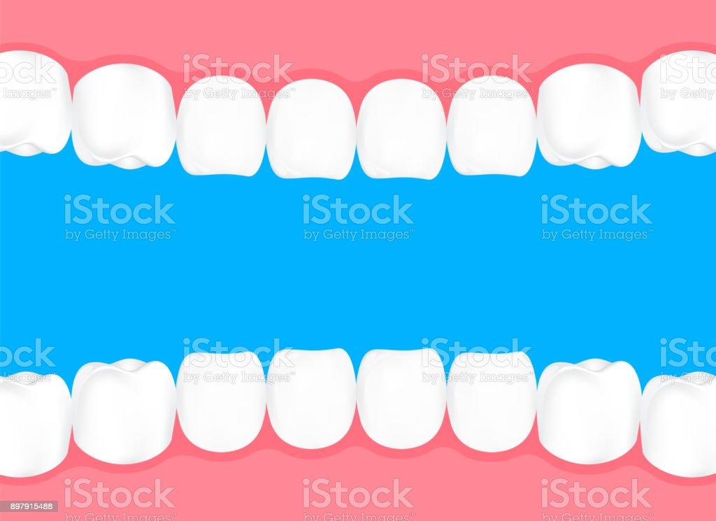 Menschliche Zähne Im Mund Stock Vektor Art und mehr Bilder von Cool ...