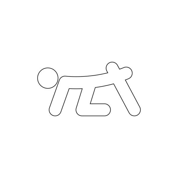 illustrazioni stock, clip art, cartoni animati e icone di tendenza di human therapy  outline icon. signs and symbols can be used for web, logo, mobile app, ui, ux - runner rehab gym