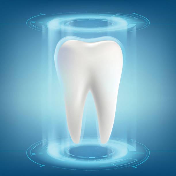 bildbanksillustrationer, clip art samt tecknat material och ikoner med mänsklig tand. tandimplantat. - tandsten